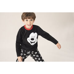 Pyjama van fleece met motief van Mickey Disney en rode toetsen