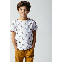 T-shirt manches courtes imprimé bateaux all-over