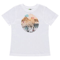 Tee-shirt manches courtes en jersey avec print graphique