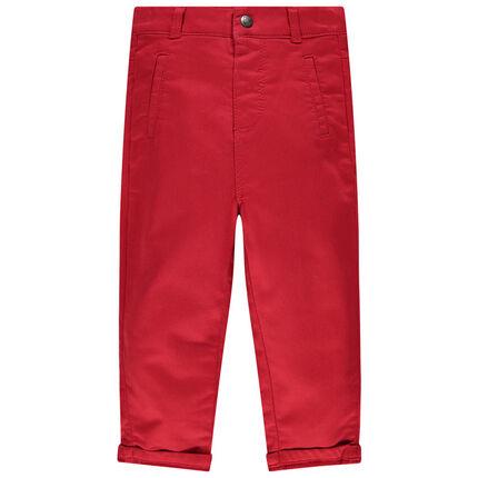 Pantalon rouge uni à poche motif koala
