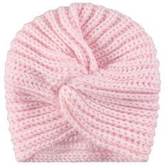 Bonnet en tricot style turban