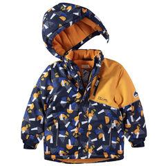 """Waterdichte ski-jas met grafische print """"all-over"""""""