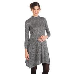 Jurk voor tijdens de zwangerschap met ruim pasvorm in gechineerde tricot