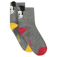 Set met 2 paar matching sokken van ©Disney Mickey met reliëforen