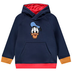 Kindersweater met kap van molton voor jongens met patroon Donald Disney , Orchestra
