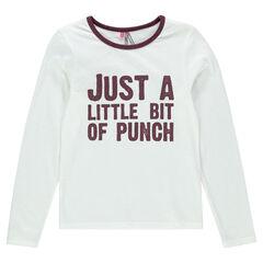 Junior - Tee-shirt manches longues à message printé