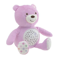 Knuffel projector First Dreams Baby Bear - Roze