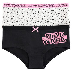 Junior - Lot de 2 shorties avec inscription Star Wars™ et étoiles