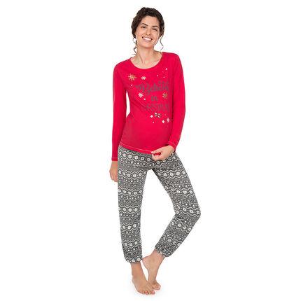 Pyjama de grossesse en jersey esprit Noël