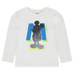 Disney T-shirt met lange mouwen uit jerseystof met print van Mickey