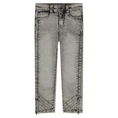 Straight-fit jeans met sneeuwvlokeffect