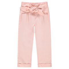 Roze capri met knooplint