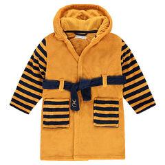 Robe de chambre en sherpa avec capuche tête de tigre