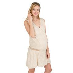 Mouwloze zwangerschapsjurk met elastische taille