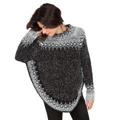 Zwangerschapstrui van tricot in ponchovorm