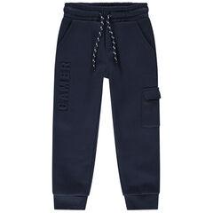 Pantalon de jogging en molleton avec motifs en relief