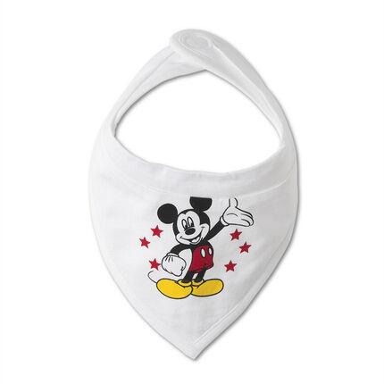 Set van 2 slabbetje in jersey Mickey