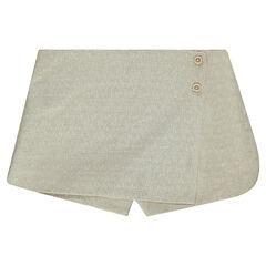 Junior - Short jupe en jacquard effet brillant