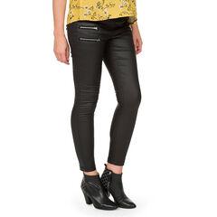 Jeans slim enduit avec zips