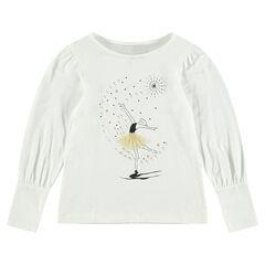 T-shirt met lange mouwen en print met danseres