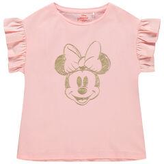 T-shirt manches courtes volantées print Minnie Disney
