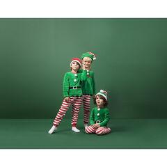 Kerstpyjama voor jongens om te verkleden, van fleece, met ensemble en muts