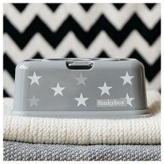 Boîte de lingettes huimides étoiles - Gris