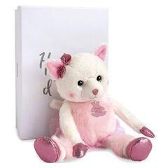 Knuffel Misty de kat 25 cm - Roze