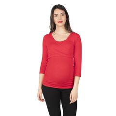 Tee-shirt manches longues en jersey de grossesse et d'allaitement
