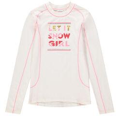 Junior - Ski-T-shirt met lange mouwen van oneffen jerseystof