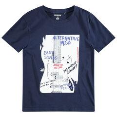 Junior - T-shirt met korte mouwen en gitaarprint