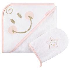 Set de bain avec cape et gant de toilette ©Smiley Girl