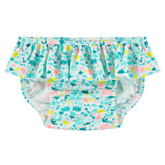 Culotte de bain volantée imprimée all-over