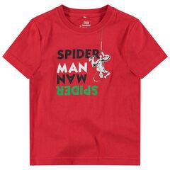 Tee-shirt manches courtes en jersey avec message et print ©Marvel Spiderman