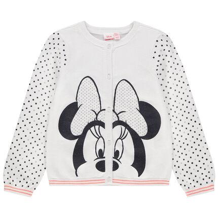 Gilet en tricot print Minnie Disney et pois