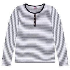 Junior - Tee-shirt manches longues en maille avec pattes boutonnées