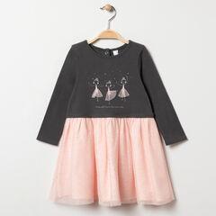 Robe manches longues effet 2 en 1 print danseuses pour bébé fille , Orchestra