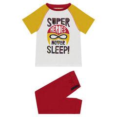 Pyjama uit jerseystof met superheldenprint