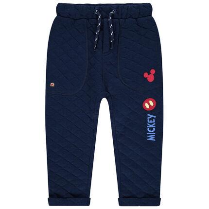 Pantalon de jogging en molleton à croisillons  et badges Mickey Disney