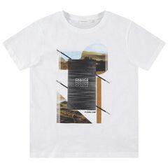 Junior - T-shirt manches courtes en jersey avec imprimé paysage