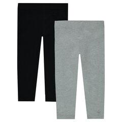 Set met 2 effen leggings uit jerseystof