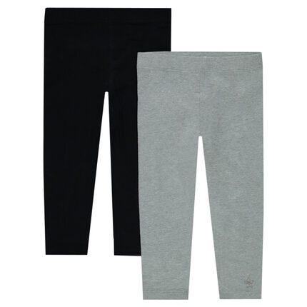 Lot de 2 leggings unis en jersey