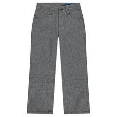 Straight fit broek van molton