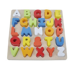 Alfabet puzzel in hout