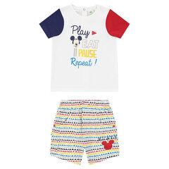 Ensemble van t-shirt met Mickeyprint en short met print