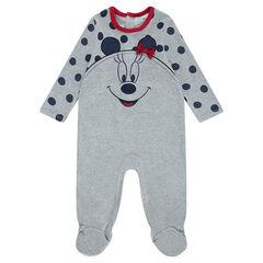 Pyjama van jerseystof met stippen en print ©Disney Minnie