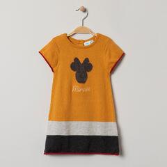 Robe en tricot avec serti Minnie et bandes contrastées