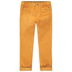 Slim-fit broek van velours