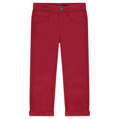 Junior - Pantalon en twill uni