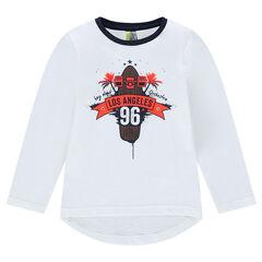 "Tee-shirt manches longues avec print ""Los Angeles"""